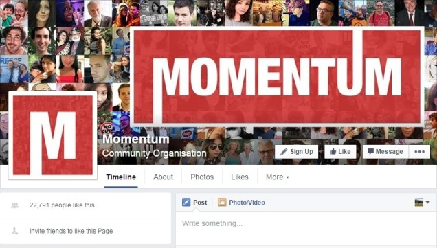 Momentum - Jeremy Corbyn - Labour Party - Facebook Page