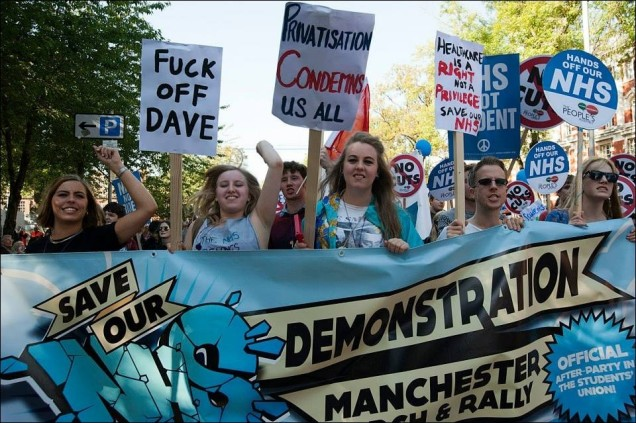 Students Protest - Conservative Party Conference