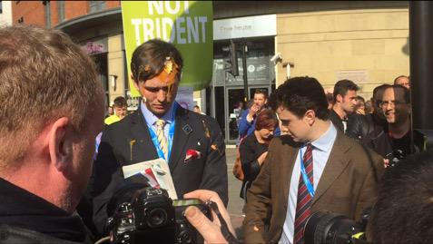 Tory Conference Protest Egged - 1