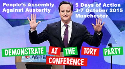 Tory Party Conference Demonstration