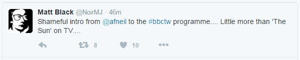 Andrew Neil - Twitter Response 1