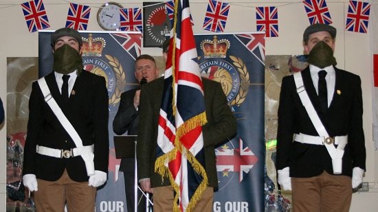 Britain First - Paul Golding - Masked Activists