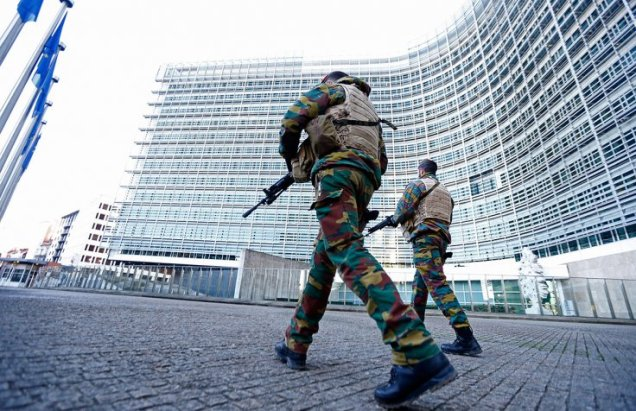 Brussels Lockdown - EU Building 2