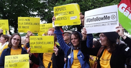 France - Mass Surveillance - Protest