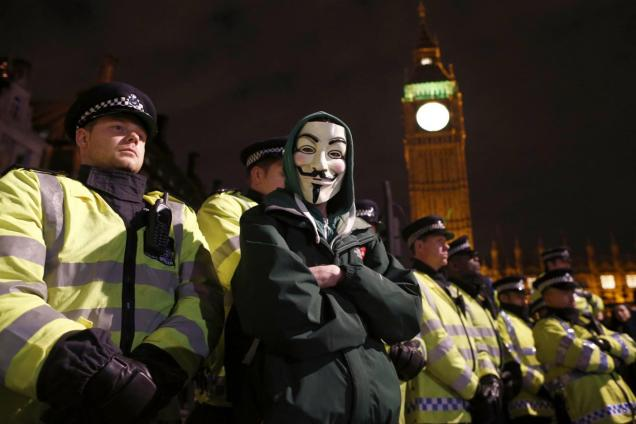 Million Mask March - London 2015 - Protests - Anarchists - Anti Austerity