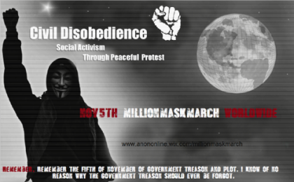 Million Mask March - Poster