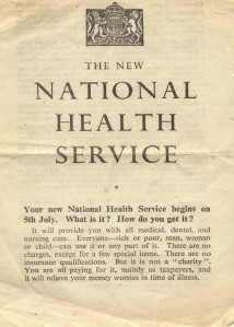 National Health Service - NHS Leaflet - 1948