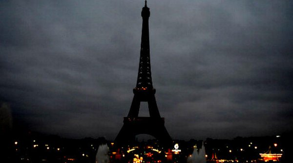 Paris Terror Attacks - Eiffel Tower Dark - 2