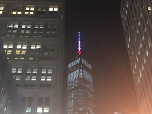 Paris Terror Attacks - One World Trade Center - New York