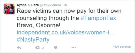 Tampon Tax - Aysha Raza