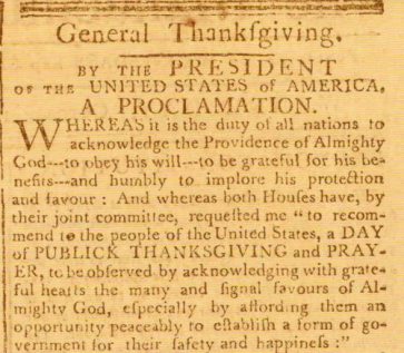 Thanksgiving Proclamation - Abraham Lincoln