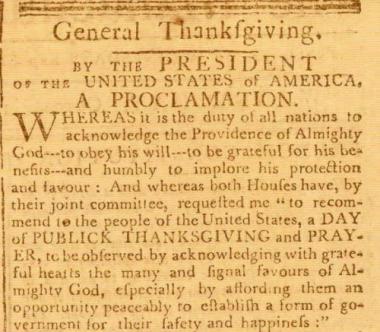 Thanksgiving Proclamation - Abraham Lincoln