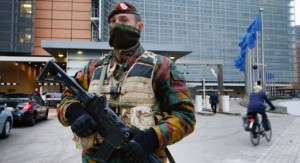 Brussels Lockdown - EU Building