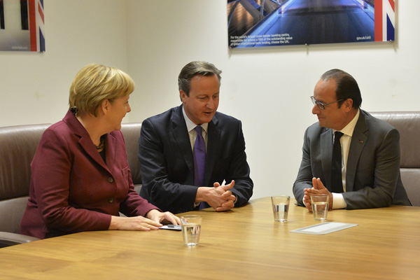 David Cameron - Angela Merkel - Francois Hollande - EU Renegotiation - Brexit