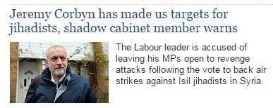 Jeremy Corbyn has made us targets for jihadists - shadow cabinet - Syria vote - ISIS.jpg