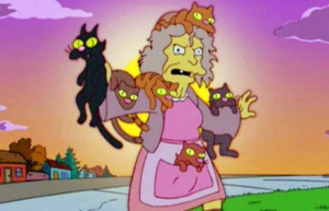 Crazy Cat Lady - The Simpsons
