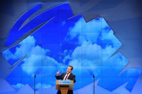 David Cameron - Conservative Party - Tree Logo - Coke Zero Conservatism