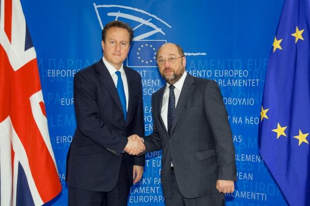 Martin SCHULZ - EP President , David Cameron - British Prime minister