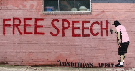 Free Speech - Conditions Apply - Graffiti