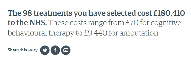 How Much Do You Cost The NHS - 2