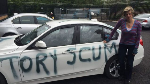 Tory Scum - Graffiti Car