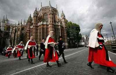 UK Legal System - Judges Procession