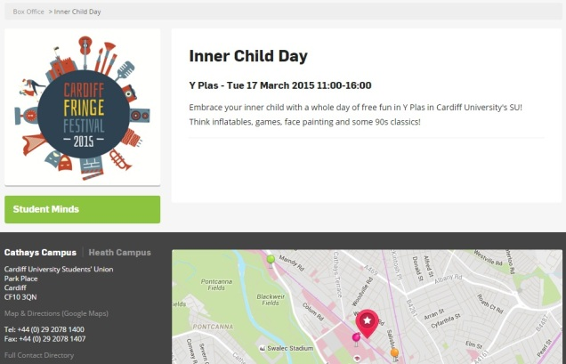 Cardiff University Students Union - Inner Child Day - Infantilisation - Safe Space
