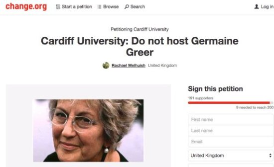 Germaine Greer - Cardiff University
