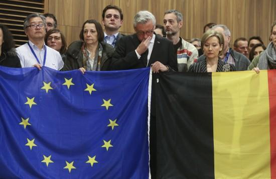 Jean Claude Juncker - Manuel Vals - Brussels Attacks - European Union