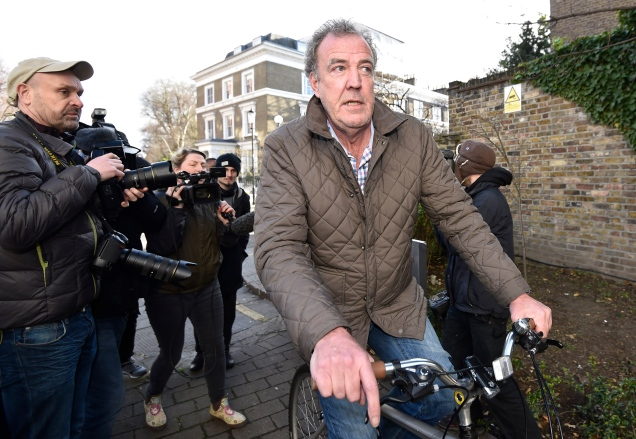 British television presenter Clarkson returns to his home in west London