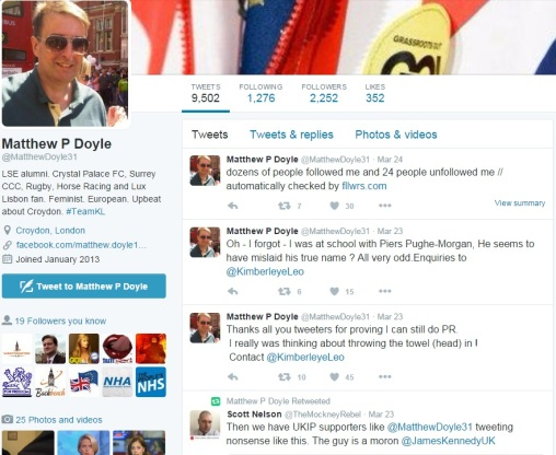 Matthew Doyle - Twitter Timeline - 28 March