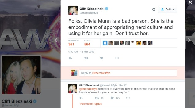 Olivia Munn - Cliff Bleszinski - Nerd Culture - Geek - Cultural Appropriation - Identity Politics