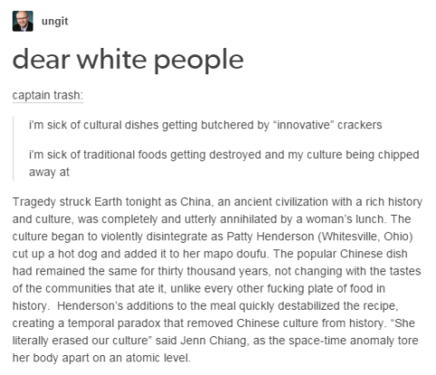 Cultural Appropriation - Food