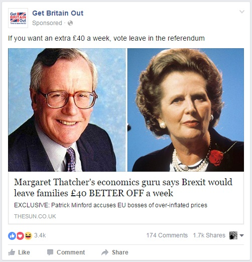 Get Britain Out - EU Referendum - Save 40 per week