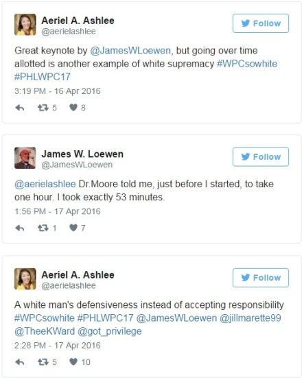 James Loewen - Aeriel Ashlee - Twitter exchange