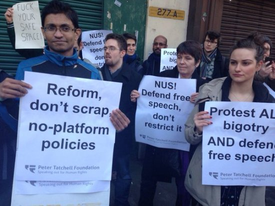 NUS Protest - No Platform Policy - Free Speech