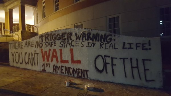 Ohio University College Republicans - Graffiti Wall - SJWs - Identity Politics