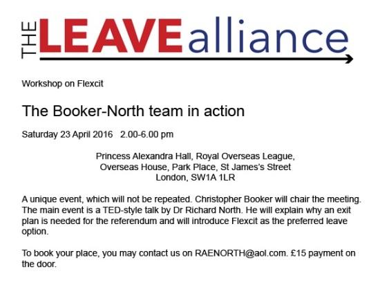 The Leave Alliance - Flexcit Workshop - EU Referendum - Brexit