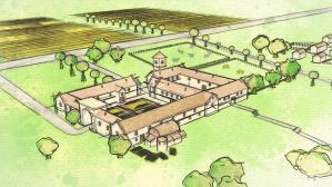 Tisbury Roman Villa - artist reconstruction