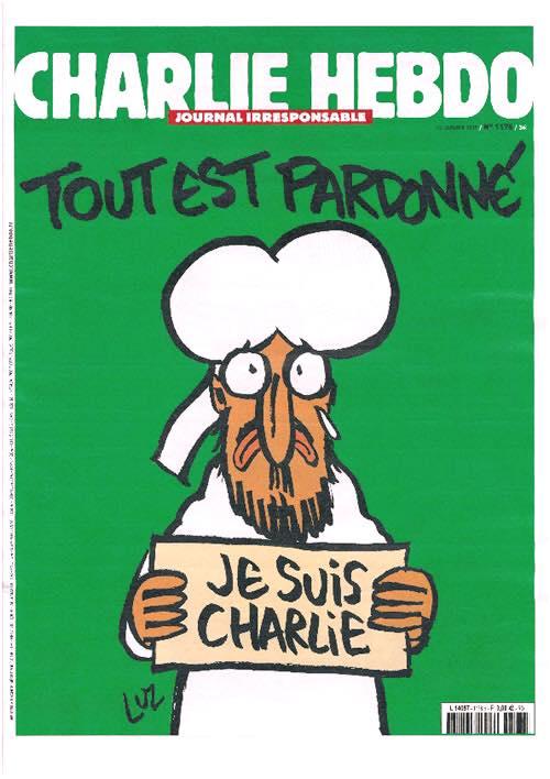Charlie Hebdo cover - Tout Est Pardonne