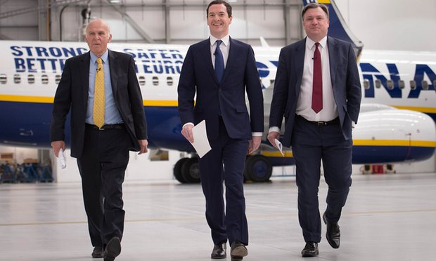 George Osborne - Ed Balls - Vince Cable - RyanAir - Brexit - EU Referendum - Establishment - Coke Zero Conservatism