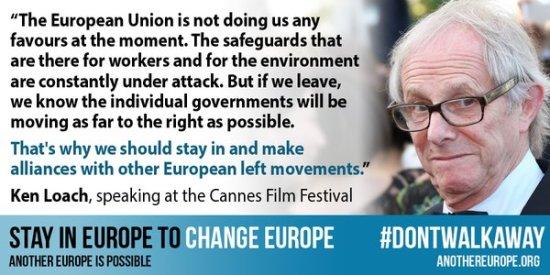 Ken Loach - Another Europe Is Possible - EU Referendum