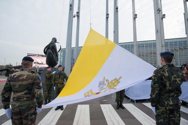 Vatican Flag - EU European Parliament - Strasbourg - Pope Francis