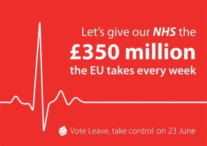 Vote Leave - NHS 350 Million - Brexit