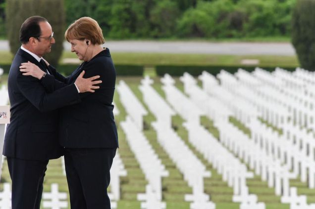 Francois Hollande - Angela Merkel - France - Germany - Reconciliation - EU Referendum