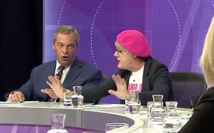 Nigel Farage - Eddie Izzard - BBC Question Time - EU Referendum