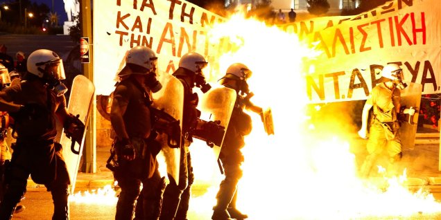 Protest - Greece - Athens - EU- European Union