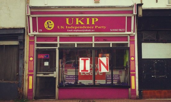 UKIP office Thanet - Laura Barton poster - EU Referendum