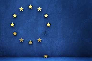Brexit - EU - European Union Flag - Missing Star - Britain - UK