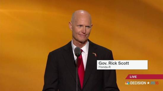 Rick Scott - Florida - RNC - Republican National Convention 2016 - Donald Trump